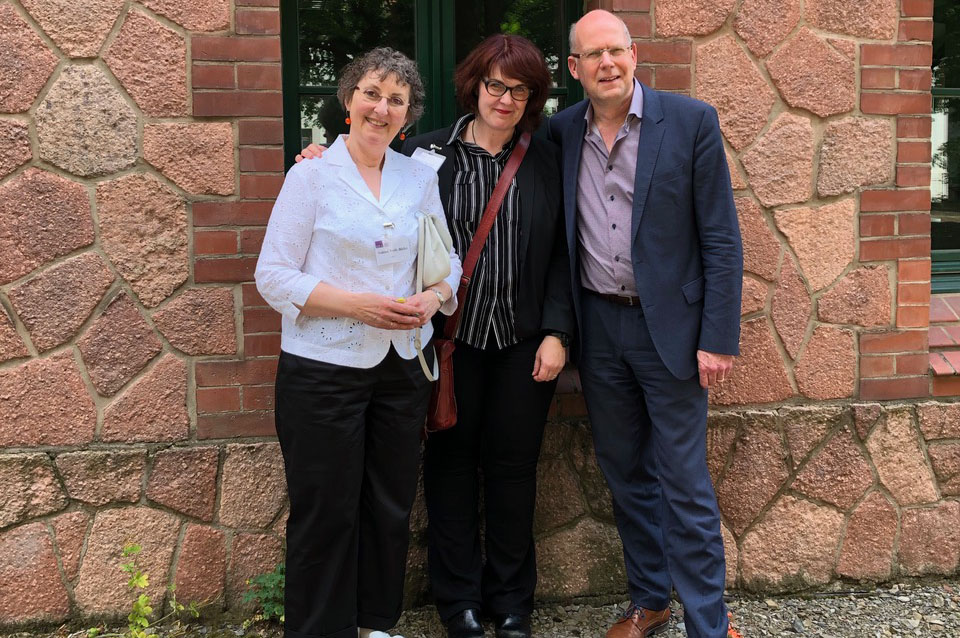 The three Religion and The Enlightenment Conference organizers: Sabine Volk-Birke, Laura Stevens and Daniel Fulda, Director of the IZEA, Martin Luther Universität Halle-Wittenberg