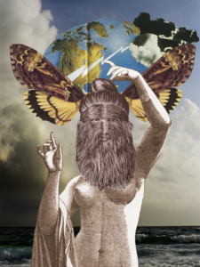 Hayley Rauner Monster Collage: Bearded Lady