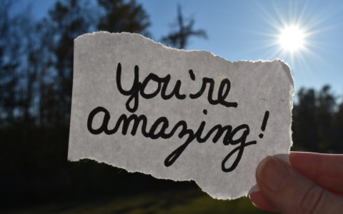 Hand written you are amazing note